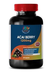 acai berry capsules - Acai Berry 1200mg - energy pills - 1 Bottle