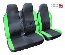 Renault Trafic (01-14) GREEN MotorRacing VAN Seat COVERS - Single + Double
