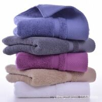 3pc Quick Drying Cotton Towels Luxury Hand Bath Thick Towel Bathroom Color Solid
