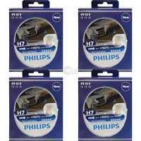 4x Philips Racing Vision H7 12V 55W PX26d +150% 2 Stück Set Birne 12972RVS2
