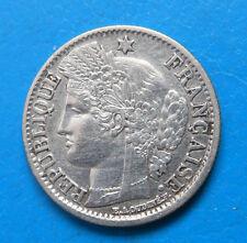2ème République RARE 50 centimes Cérès 1851 A PARIS cote TTB 120€ sup 300€