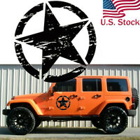 20'' Army Star Distressed Vinyl Decal Car Hood Side Body Badge For Jeep Wrangler