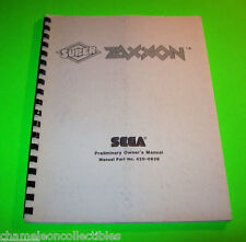SUPER ZAXXON '82 By SEGA ORIGINAL VIDEO ARCADE GAME SERVICE MANUAL w/ SCHEMATICS