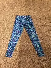 Girls/teens Reebok Athletic Leggings Size 16. Green, Purple, Blue Cute!