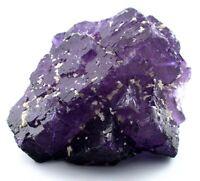 Mexican Mexico Rich Purple Fluorite Crystal Cluster Gemstone Gem Stone Specimen
