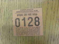 Billete de alrededor de 1980s: aparcamiento Oldham Athletic oficiales (50p, naranja, arrugada).