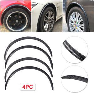 "From US 4× 28.7"" Carbon Fiber Car Wheel Eyebrow Trim Lips Arch Fender Protector"