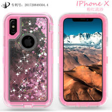 Liquid Glitter Quicksand Hard Case Phone Cover Hard Back For Samsung  iPhoneX 6
