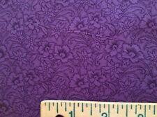 """Purple tonal black floral blender 18"""" cut x 44"""" Sew Quilt Fabric Crafts Cotton ."""