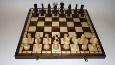 Schach 30x30cm Handarbeit Schachspiel Brettspiel Klappkoffer inkl. Holzfiguren