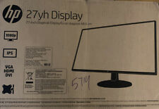 "HP 27"" IPS Monitor 27YH Full HD 1920 x 1080 HDMI VGA Brand New"