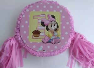 Baby Minnie 1th Piñata Birthday Party Game party Decoration,Photo prop,
