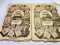 Vtg Littell's Living Age Magazine February 1886 Lot of 2 Grateful Ghosts Boar