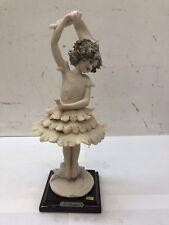 """Giuseppe Armani Ballerina Dancing Girl Sculpture 10"""" Florence Italy"""