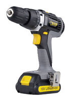 Steel Grip  18 volt 3/8 in. 1400 rpm Cordless Drill/Driver