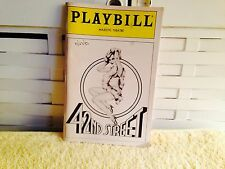 42 nd Street Majestic Theatre Playbill. July 1983. 66 pages