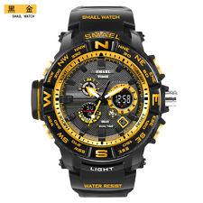 b6f0536416 SMAEL Fashion Men Watch LED Dual Display Digital.