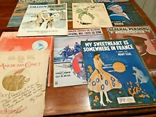 Ten Sheet Music From World War I, Pershing, Over There, Etc.