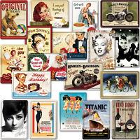 METAL POSTCARD / Collectable Retro Advert Poster Photo Plaque Tin Christmas Gift