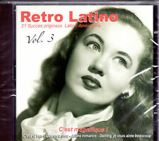 CD 21T RETRO LATINO VOL.3 EARTHA KITT/DIETRICH/FITZGERALD/MONROE/BAKER/BOYER !!