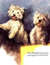 West Highland Terrier - Vintage Dog Print - Poortvliet