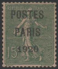 """FRANCE STAMP TIMBRE PREOBLITERE 25 """" SEMEUSE POSTES PARIS 1920 """" NEUF xx TTB"""