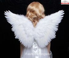 FashionWings Children's White Butterfly Style Costume Feather Angel Wings Halo