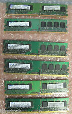 Samsung 3Gb (6 x 512MB) Memory DDR2 PC2-4200U 533MHz 1Rx8 M378T6553CZ3-CD5 RAM