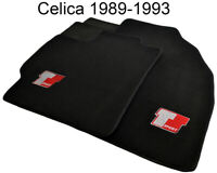 Floor Mats For Toyota Celica 1989-1993 With Sport Emblem Black Tailored Carpets