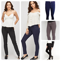 Ladies New Ex Zara Woman Skinny Spandex Slim Twill Jeans Trouser 5 colours