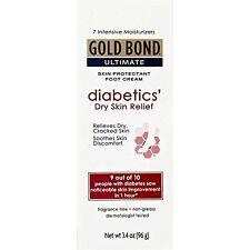 3 Pack - Gold Bond Diabetic Skin Relief Foot Cream 3.4 oz Each