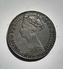 More details for silver gothic florin queen victoria  dated mdccclxxxv 1885 very  high grade