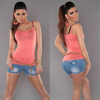 New Sexy Ladies Singlet Tank Top Size S/M Size 6 8 10 - Coral