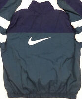 Vtg 90s Nike Men Windbreaker Jacket Color Block Swoosh Logo Nylon Lined Zip Sz M