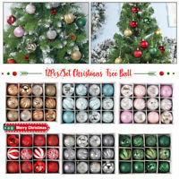12x Christmas Tree Ball Baubles Decoration Xmas Hanging Party Ornament Decor UK