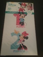 New Disney Baby Minnie Mouse First Year Milestone Belly Stickers Girls shapes