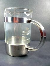 Raadvad Denmark Six Cup Glass Stainless Steel Coffee Press or Pitcher - Denmark