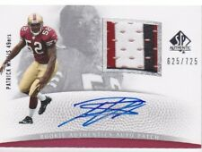 PATRICK WILLIS 2007 SP Authentic Patches Jersey Auto Rookie RC 49ers /725