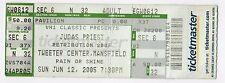 2005 JUDAS PRIEST Concert Ticket Stub RETRIBUTION TOUR Heavy Metal MASSACHUSETTS
