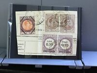 Italy Revenue used on piece   stamps R29971