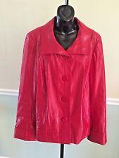 "Tribal Red ""Shiny"" Cotton Jacket - Size 14"