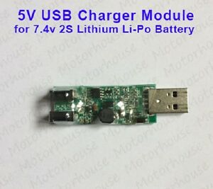 5V USB Charger Charging Module for 2S 7.4V Lithium Li-ion 18650 Battery 8.4V