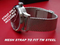 S- STEEL MESH BRACELET SHARK MILANES STRAP BAND TO FIT  BREITLING 18 20 22 24MM
