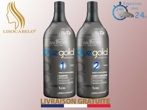 Lissage Sans Formol au Tanin 2x50ml (Taninoplastie) SALVATORE BlueGold Premium