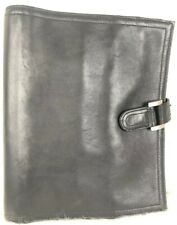 Day Timer Black Leather Planner Binder 7 Rings Planner With Inserts
