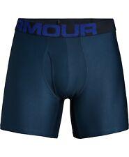 """$50 Under Armour Men'S Underwear Blue 6"""" Ua Tech Microfiber Boxer Brief Size M"""