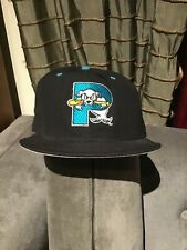 Vintage MILB New Era Portland Sea Dogs Snap Back Hat USA DuPont Visor M-L MLB