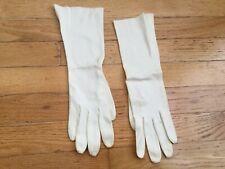 Vintage Ivory Liquid Cotton Elbow Length Gloves