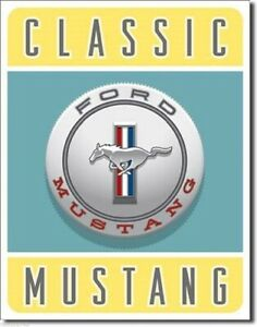 New Classic Ford Mustang Decorative Metal Tin Sign