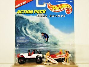 HOT WHEELS LIFEGUARD BAYWATCH SURF PATROL ACTION PACK NEW IN 1998 PACKAGE NICE